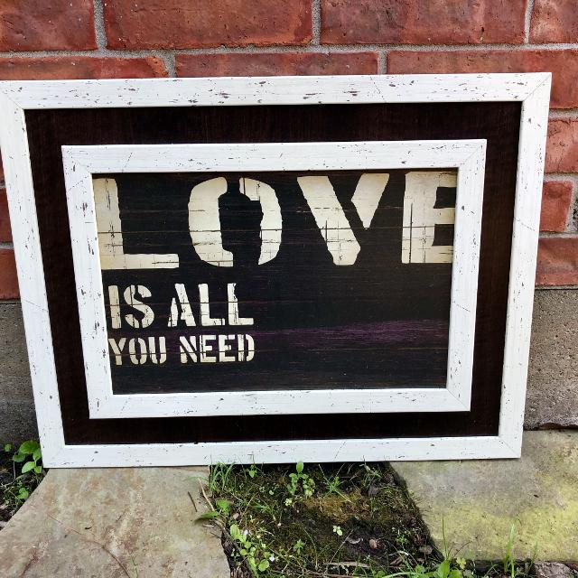 """Best """"love Is All You Need"""" Wall Decor for sale in Friendswood ..."""