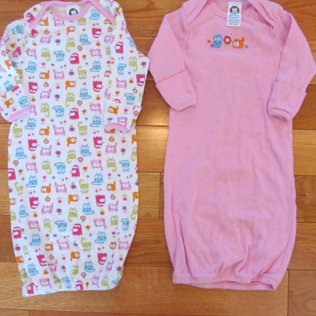 Best 2 Gerber Sleep Gowns 0-6 Mo (price Is For Both) for sale in ...