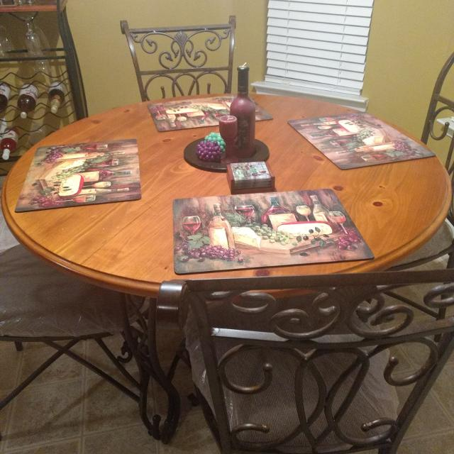 best dinette set plus matching wine rack for sale in griffin