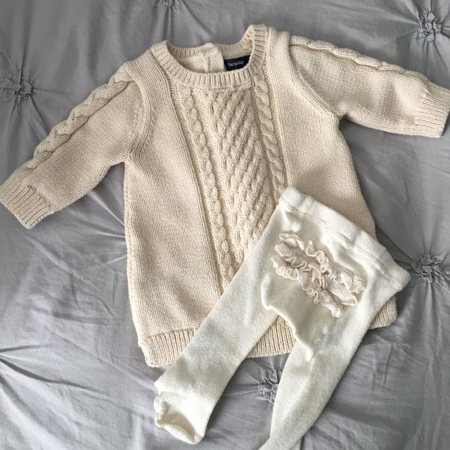 42883acf7c27a Find more Baby Gap Sweater Dress & Tights, Size 0-3 Months for sale ...