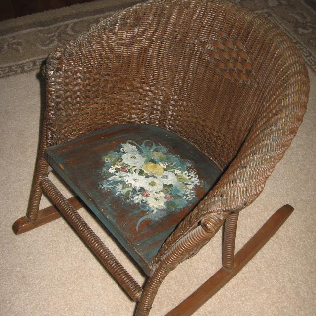 more photos 8d016 8a76d Antique Wicker Childs Rocking Chair ****Reduced Price**** FINAL REDUCED  PRICE!