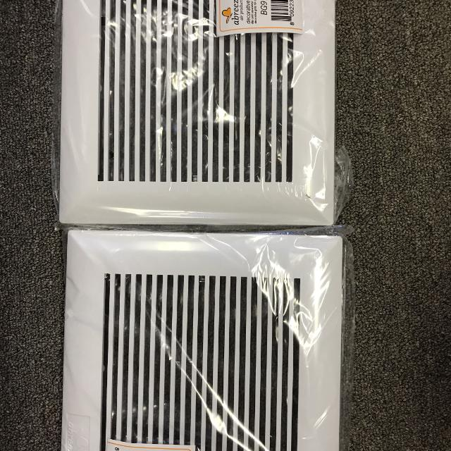 2-pack decorative grills