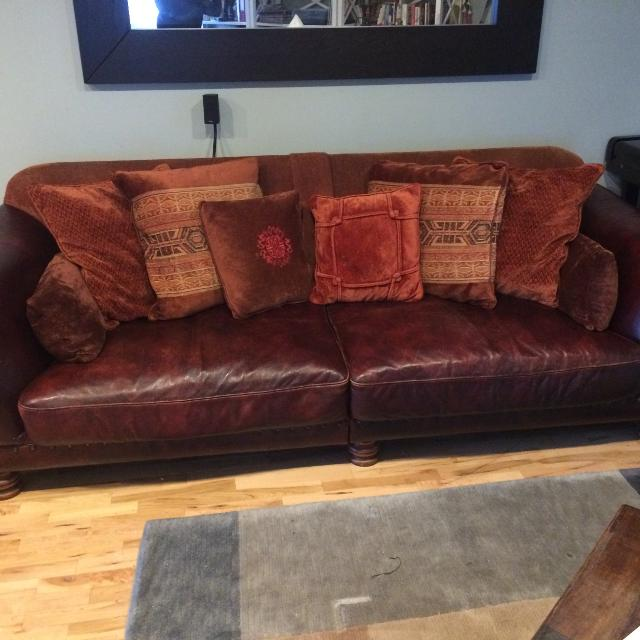 Best Tetrad Old Homer Italian Leather Sofas For Sale In North Vancouver, British Columbia For 2021
