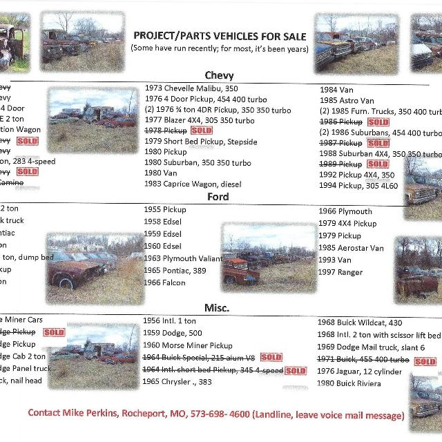 Various Project/Parts Cars
