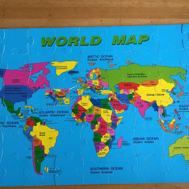 Find more rubber world map puzzle for sale at up to 90 off rubber world map puzzle gumiabroncs Choice Image