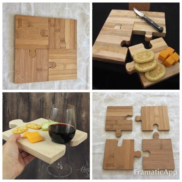 Find More Reduced Unique Wooden Puzzle Cutting Board Trivets Wine