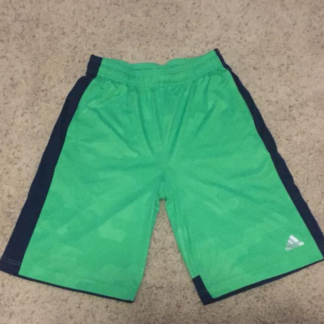 e87606ee5 Find more Boys Size Xl Adidas Climalite Shorts Green for sale at up ...