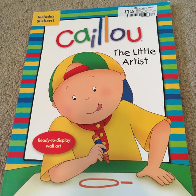 Best Caillou Coloring Book With Stickers, New for sale in ...