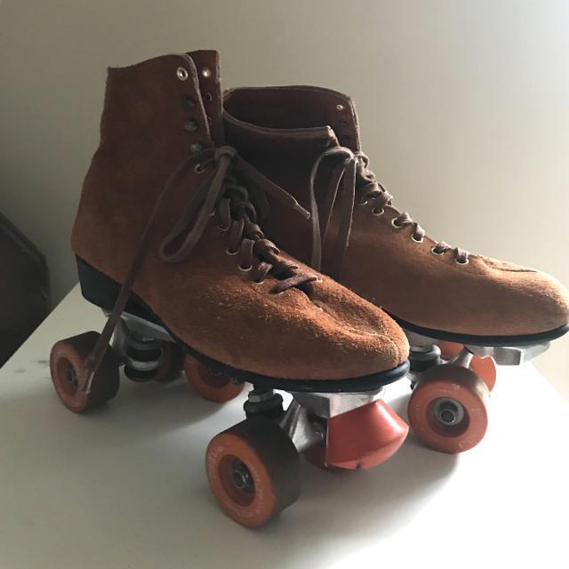 Skates For Sale >> Vintage Suede Roller Skates