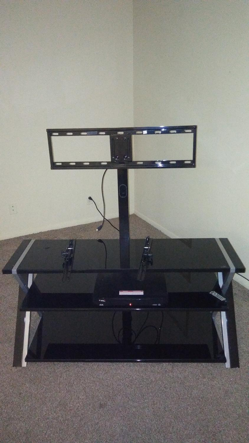 Best 3 Glass Tv Stand With Mount For Sale In Tulsa Oklahoma For 2019
