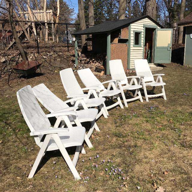Set Of 6 Patio Chairs