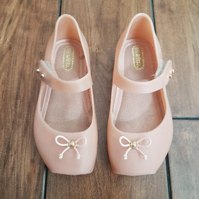 7ed79a1a8ae5f Find more Euc Mini Melissa - Girls Pale Pink/nude Mary Jane Jelly ...