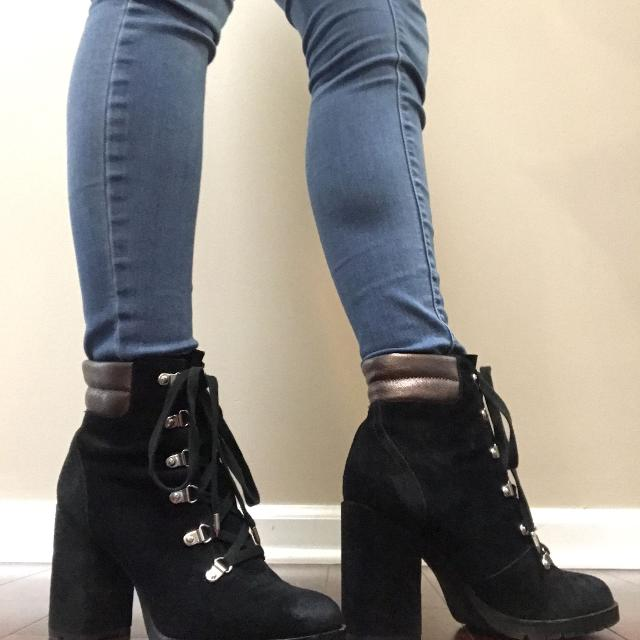 4e774124f Find more Sam Edelman Carolena Lace Up Boots Sz8.5 for sale at up to ...