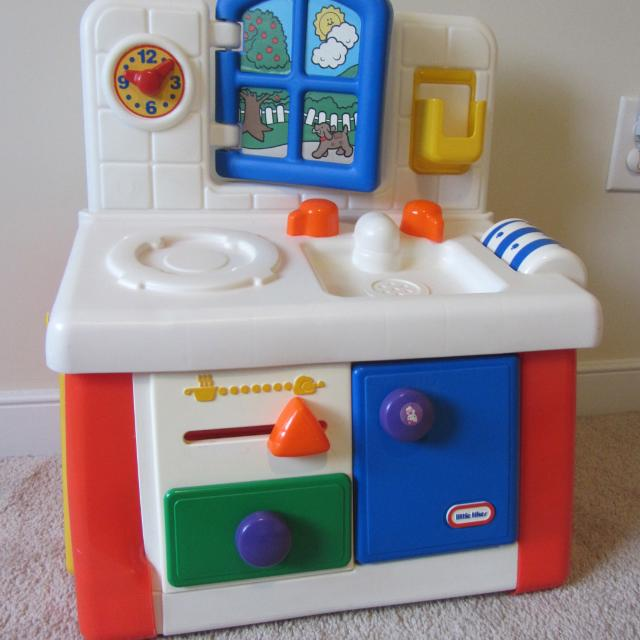 Best Little Tikes Play Kitchen With Lots Of Pretend Food for sale in ...