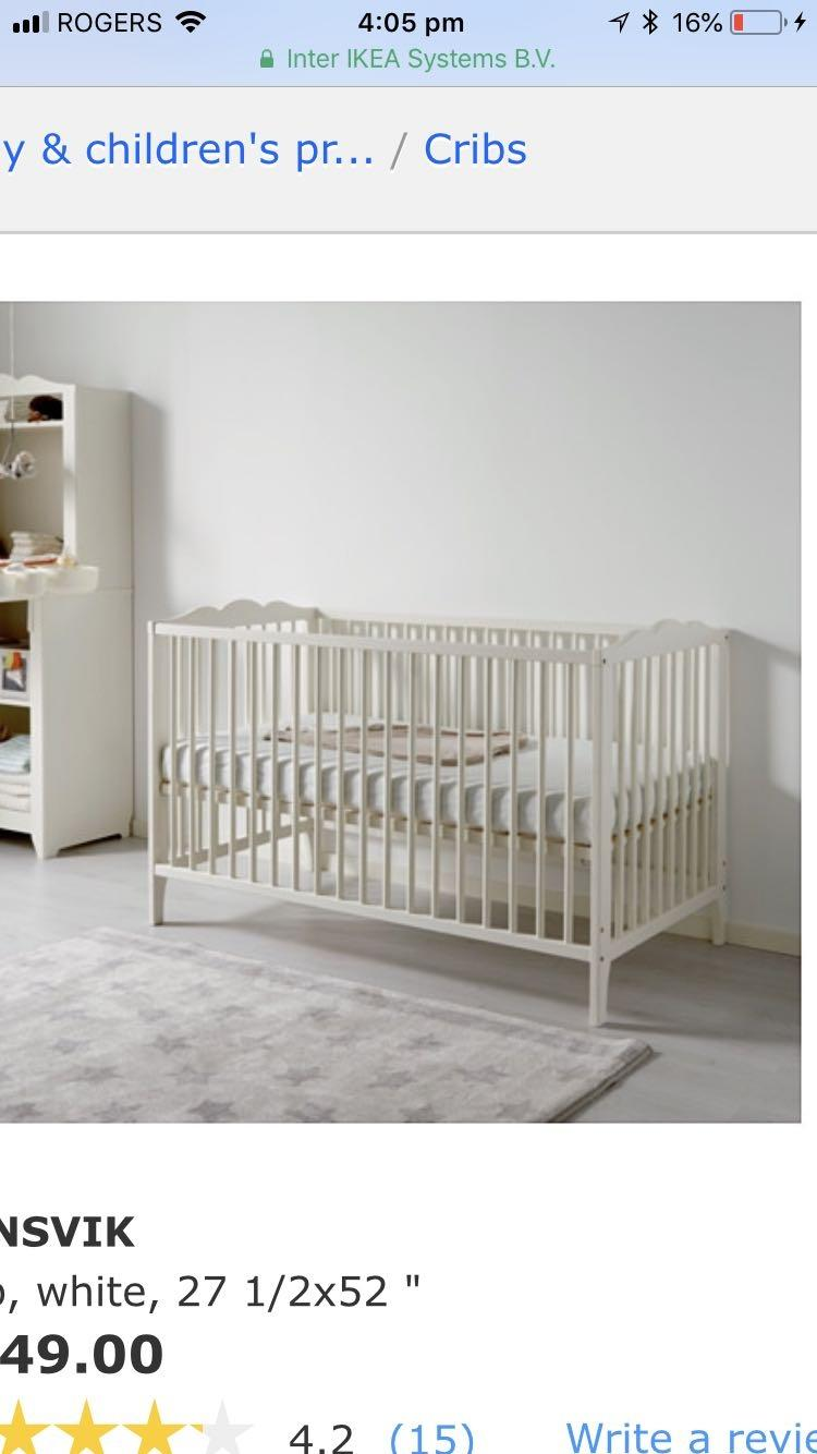 Find More Ikea Hensvik Crib For Sale At Up To 90 Off