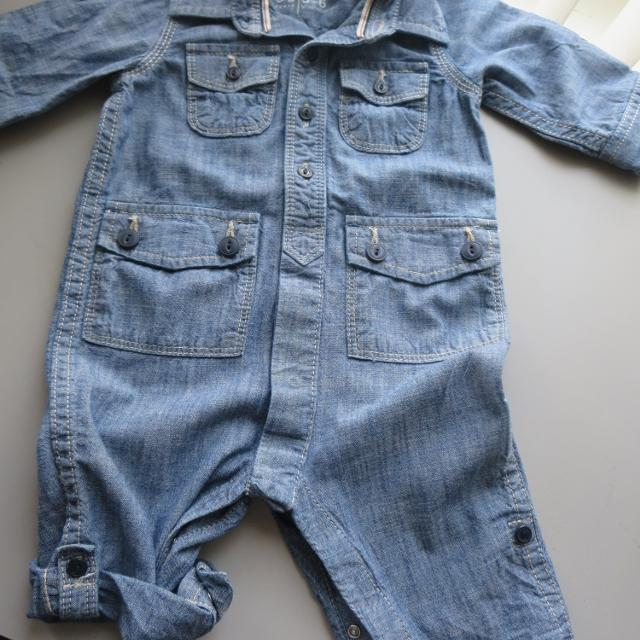 9e67c2101b3b Best Euc Baby Gap Chambray Romper Snaps At Crotch Size Is 3-6m for ...