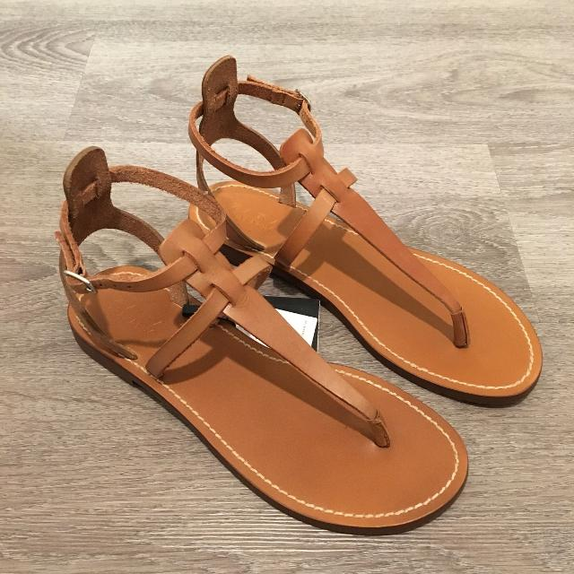4e6f34d7f9d Best Nwt Zara Leather Sandals for sale in Richmond