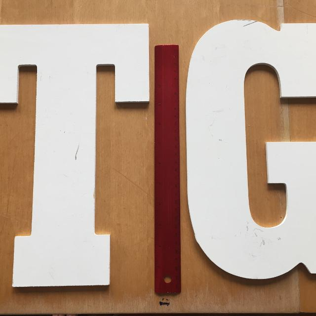 T And G Wooden Letters 13 Tall 2 Each