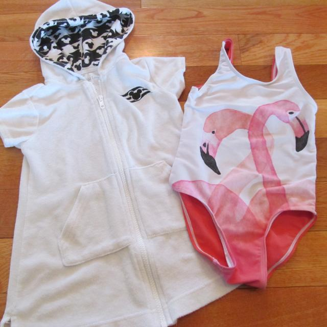 15b4fb8309 Find more Disney Swim Cover Up Xxs (about 4-5) And Old Navy Flamingo ...