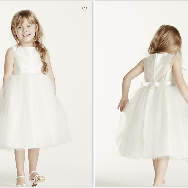 311f86715d90 Best Flower Girl Dress With Tulle And Ribbon Waist (david s Bridal ...