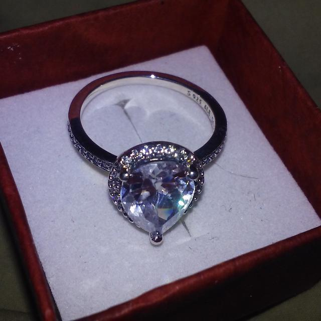 11d3f3cde Find more S925 Pandora Radiant Teardrop Ring Clear Cz #196251cz Size ...