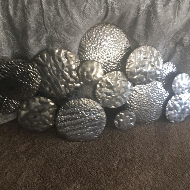 """Find more 50"""" X 31"""" Pewter/silver Metal Wall Art for sale at up to ..."""