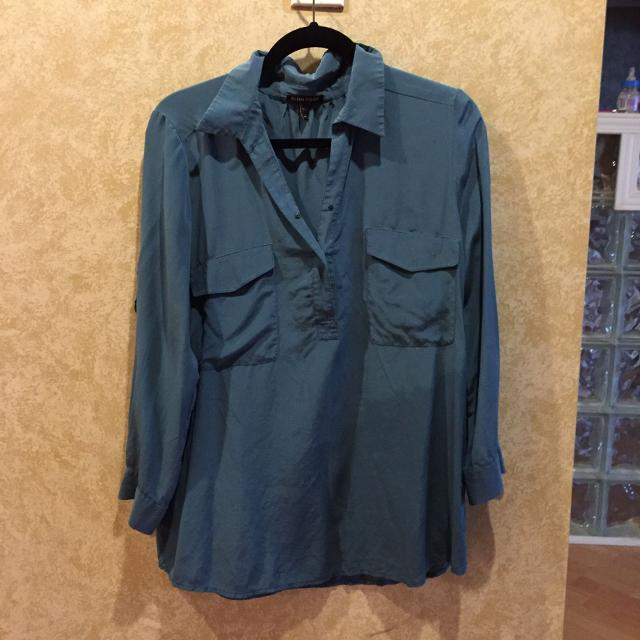 713911062d4b5b Find more 100% Silk Teal Emerald Blue Green Blouse M for sale at up ...
