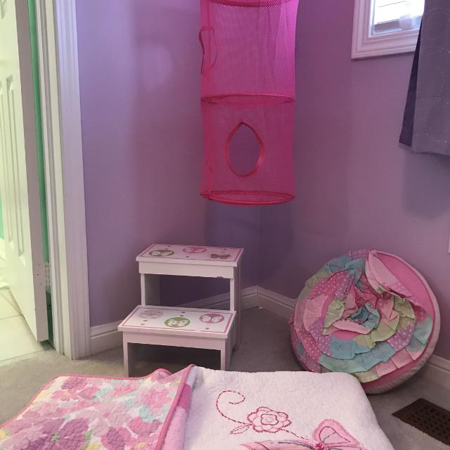 Butterfly bedroom accessories - $30