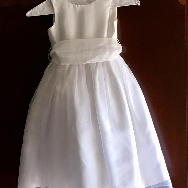 Best Reduced Girls White Formal Dress Sz 6 For Sale In