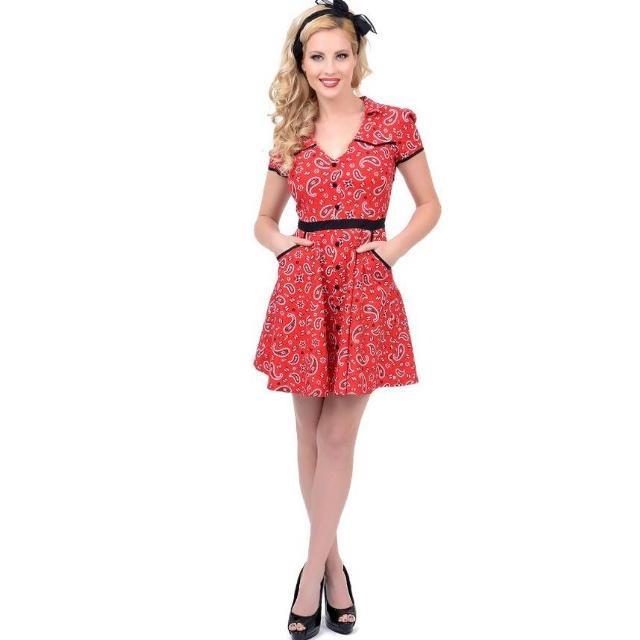 5e897d4b1ba Find more Hellbilly Red Bandana Dress for sale at up to 90% off