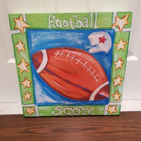 Used, Varsity football wall painting for sale  Canada