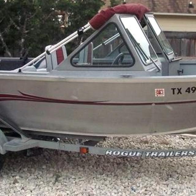 2002 17 4 Alumaweld Stryker Aluminum Boat