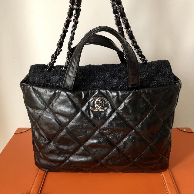 82eb4a93ae5a Find more Chanel Portabello Tote Quilted Glazed Calfskin & Tweed ...