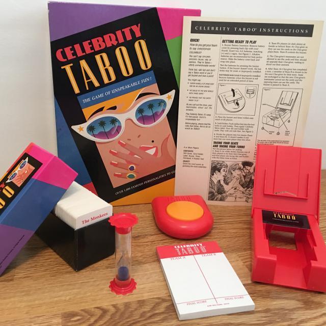 Best Celebrity Taboo Game 1991 Vintage Party Fun Milton Bradley