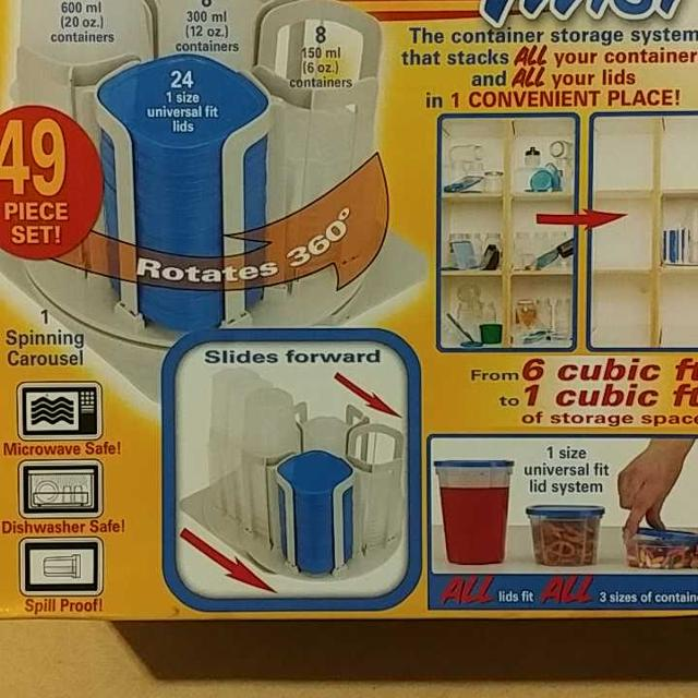 As Seen On Tv Stack N Twist Storage Containers