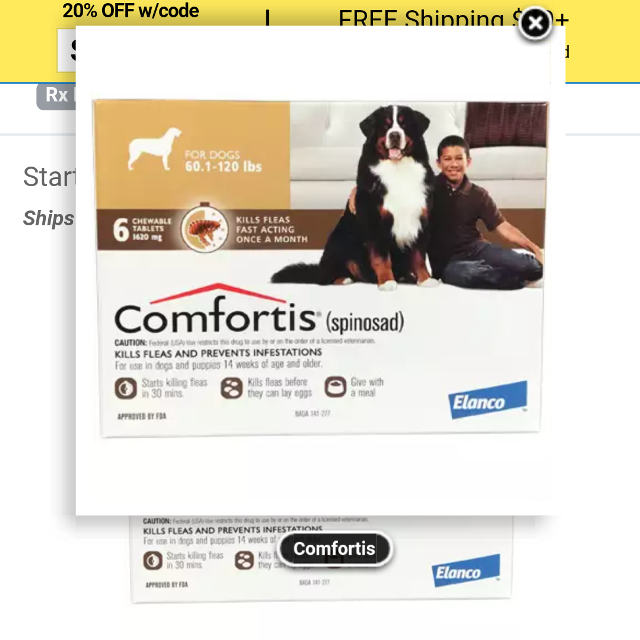 Looking For: Iso looking for: comfortis flea pills for dogs