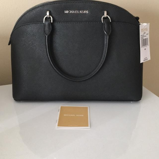 0406f7b56e02 Best Michael Kors - Emmy Black Leather Dome Satchel. for sale in Pine  Island Ridge