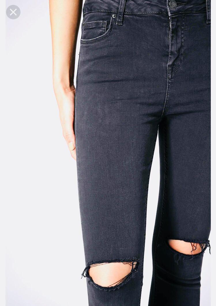 outlet on sale cheap for sale buy cheap Top Shop MOTO Washed Black Ripped Jamie Jeans