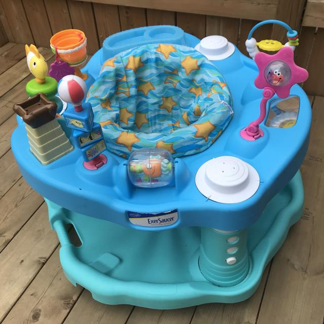 0325df897 Find more Evenflo Exersaucer Bounce   Learn - Beach Baby for sale at ...
