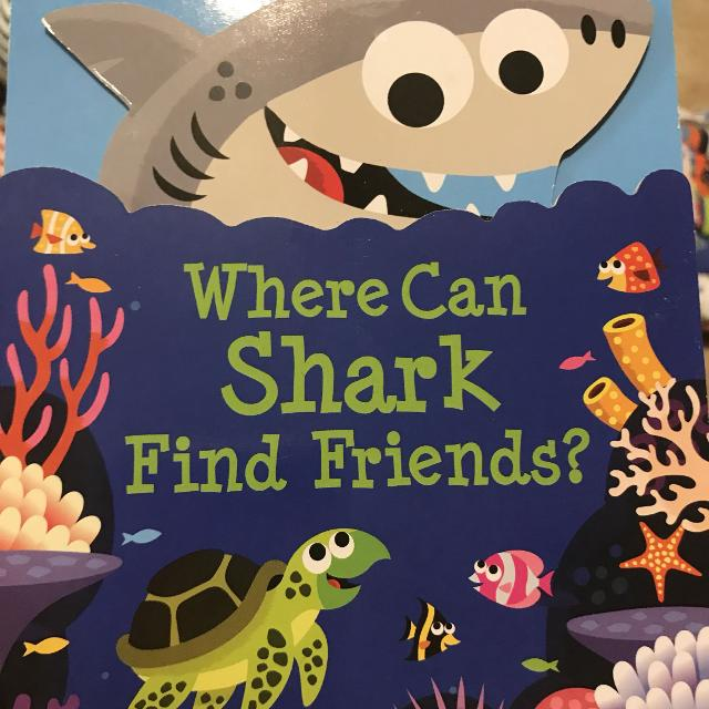 Where can shark find friends? Board book New!