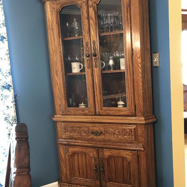 Dining Room Hutch For Sale: Best Oak Dining Room Corner Hutch For Sale In Germantown