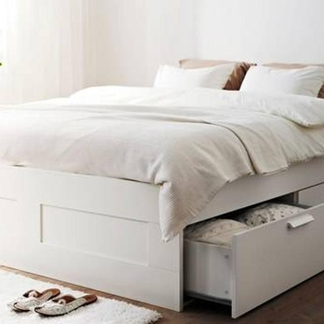 san francisco 648a6 d05f8 Ikea Brimnes Bed frame with 4 drawer storage - $300 (Fulton)