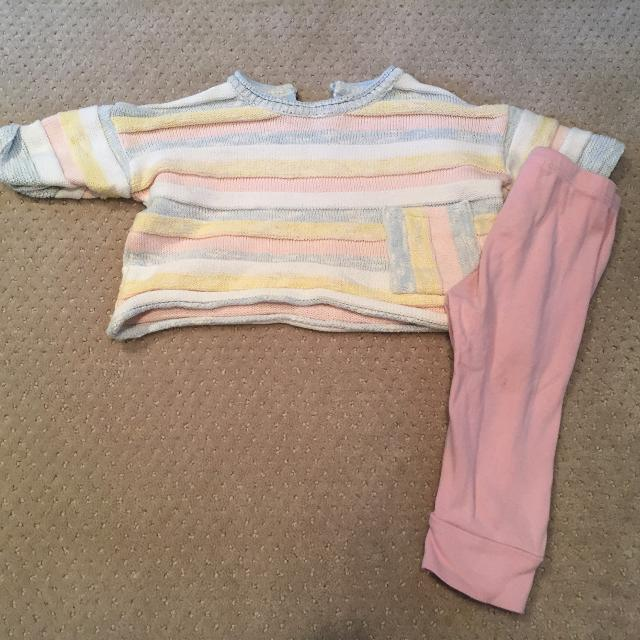 905b72f743f22 Best Zara Striped Top And Light Pink Baby Gap Leggings for sale in Markham,  Ontario for 2019