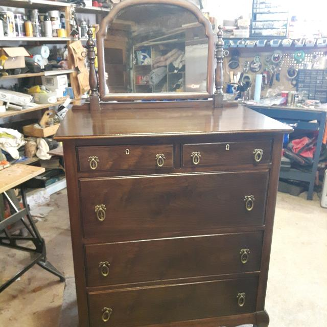 Find More Antique Walnut Dresser With Mirror For Sale At Up To 90 Off