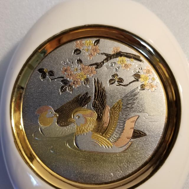 Best Art Of Chokin Vase From Japan Ducks On The Pond For Sale In