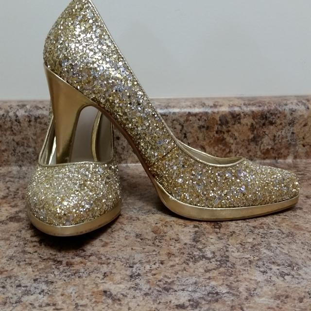 532725f295b Find more Sparkly Gold High Heels for sale at up to 90% off