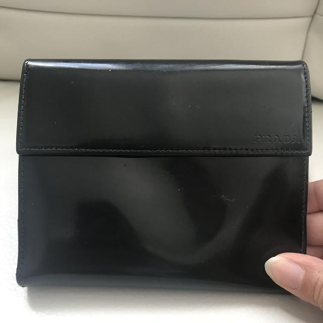 a39ef00fe2a Find more Authentic Vintage Prada Leather Wallet for sale at up to ...