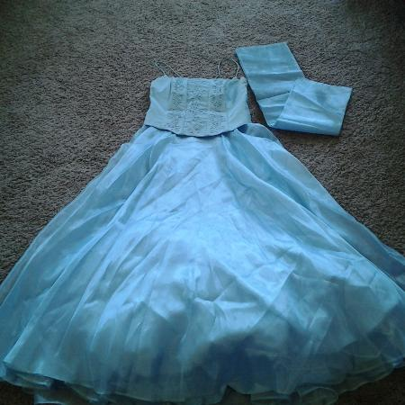 Used, Lenovia Baby Blue Prom Dress-Final... for sale  Canada