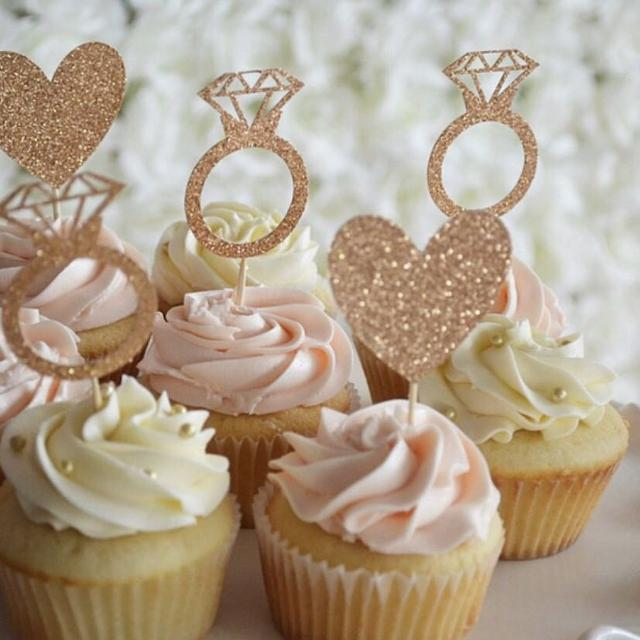 custom bridal shower cupcake toppers