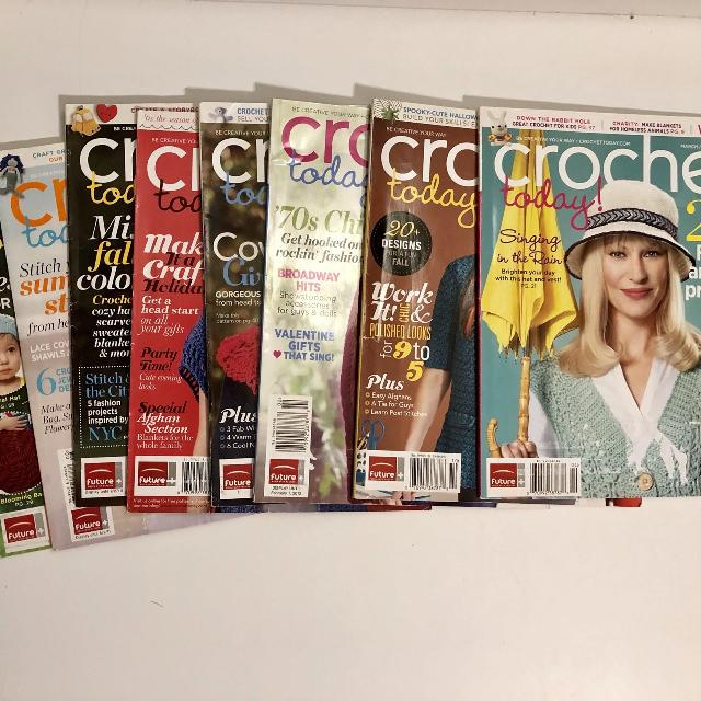 Find More Lot Of 8 Crochet Today Magazines Out Of Print For Sale